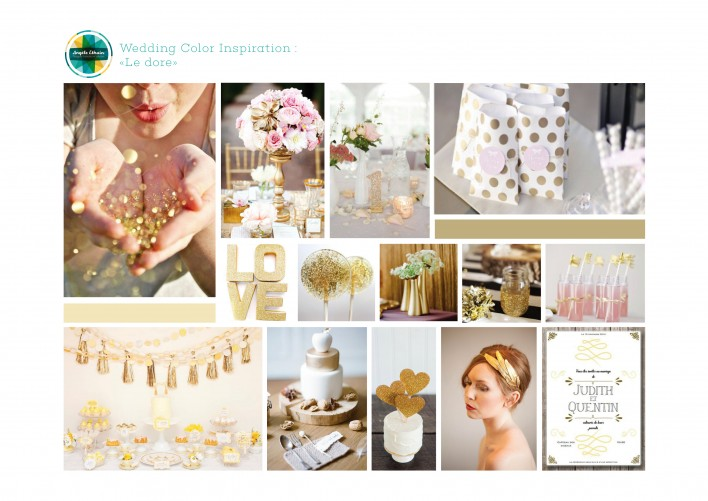 Event / Planche d'ambiance mariage - Thème Glitter