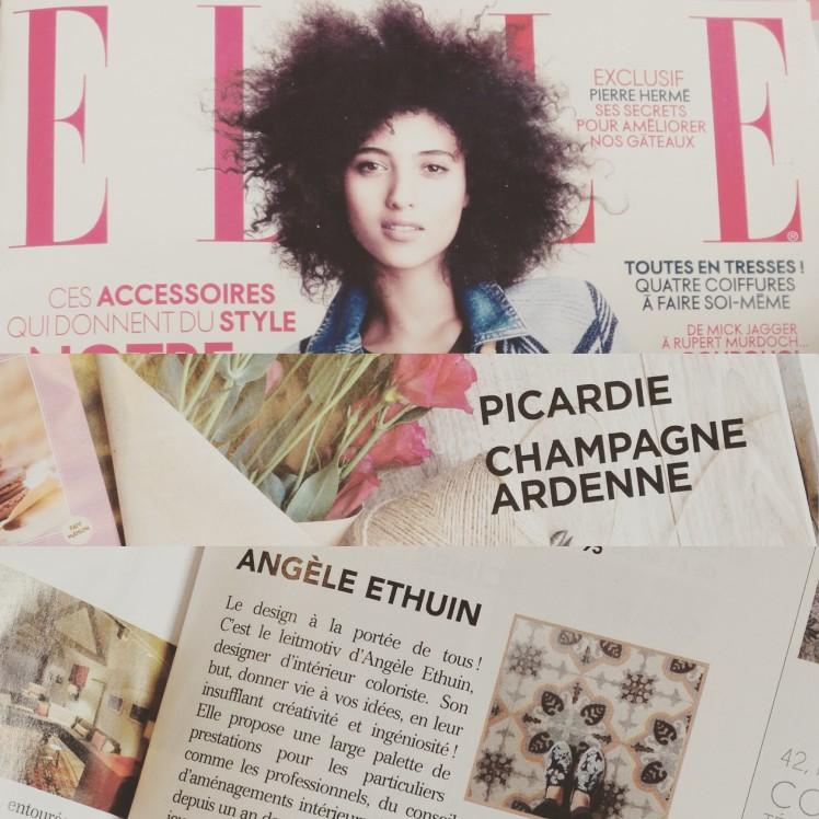 Petite presse dans le Elle magazine Mars 2016