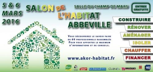 Affiche du Salon de l'Habitat d'Abbeville 2016