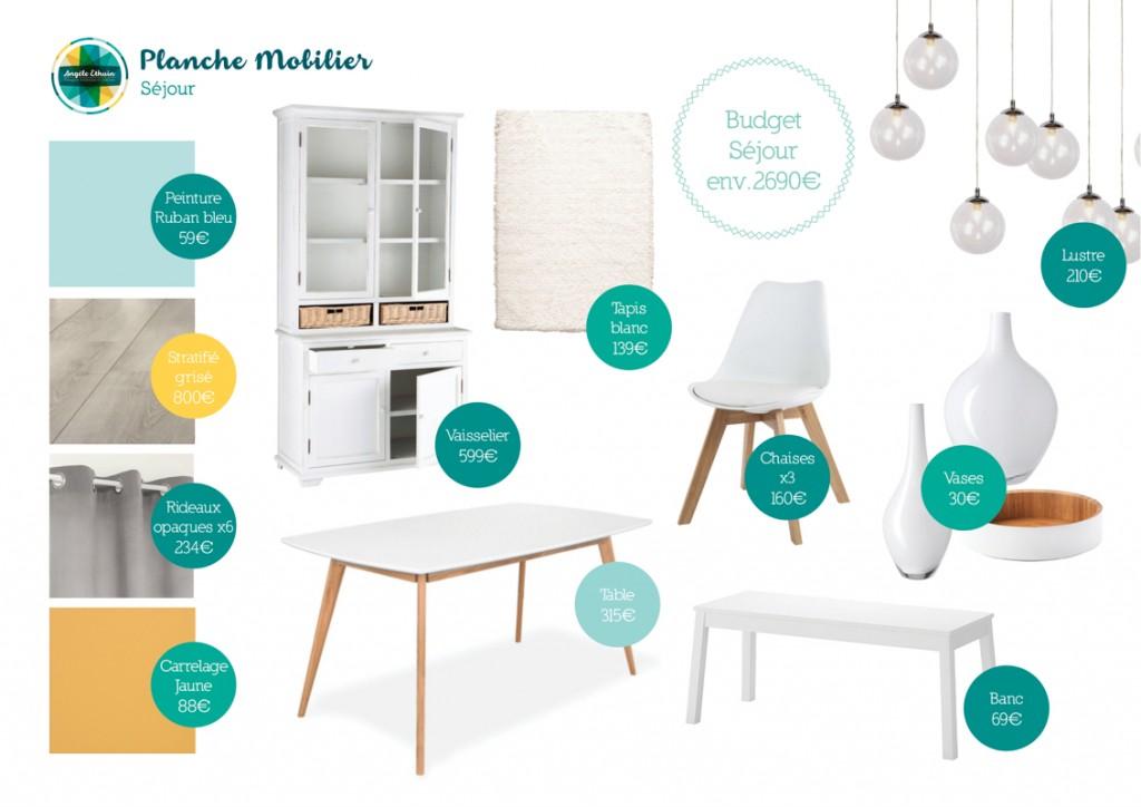 Mobilier séjour 35m2 - Design intérieur - Angèle Ethuin Designer d'intérieur & Coloriste