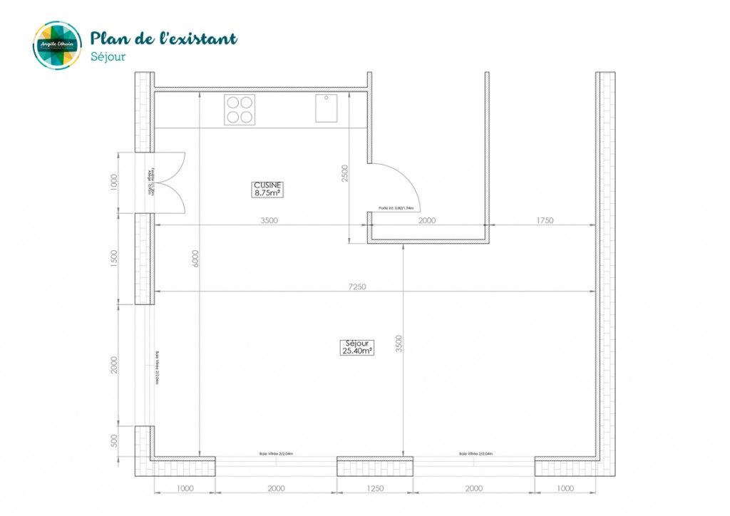 Plan séjour 35m2 - Design intérieur - Angèle Ethuin Designer d'intérieur & Coloriste