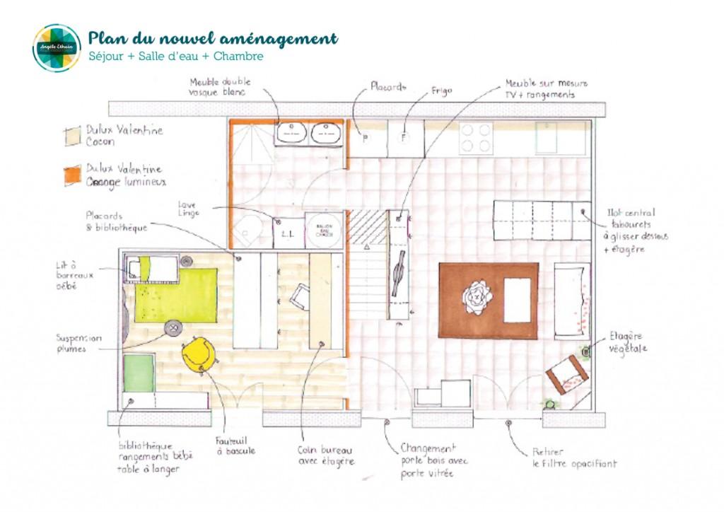 Design intérieur d'un rez de chaussée - Angèle Ethuin
