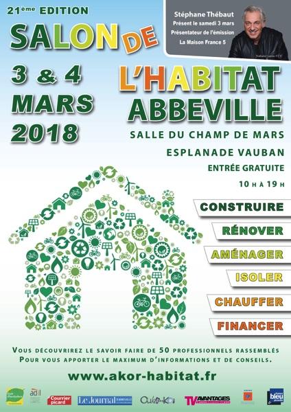 Affiche salon habitat Abbeville 2018