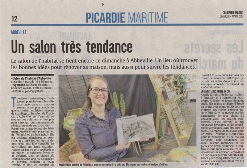 Article Courrier picard - Salon de l'Habitat 2018