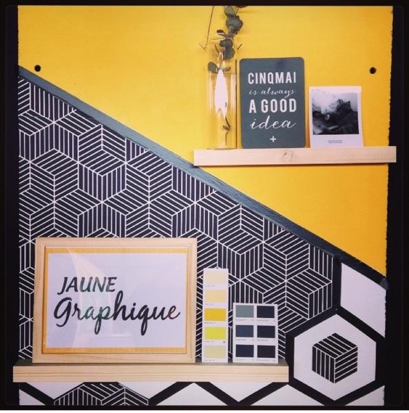 Inspiration jaune graphique par Angèle Ethuin Designer d'intérieur & Coloriste