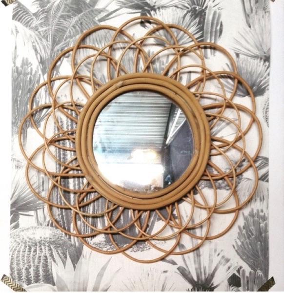 Miroir vintage par Angèle Ethuin Designer d'intérieur & Coloriste